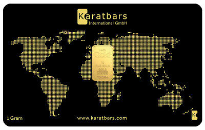 BGB - 24ct Gold 1 Gram Bar in Karatbars Card Great Gift Idea Invest in Gold NOW