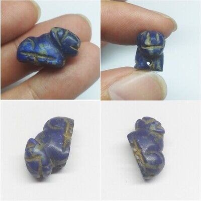 Lapis lazuli Stone Ancient Roman Beads Carve Tiger Animal Bead Stunning