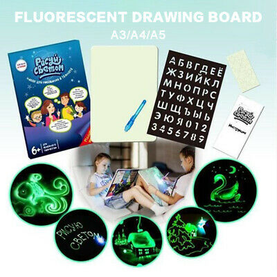 2019 Draw With Light Fun And Developing Toy Drawing Board Educational Magic Draw