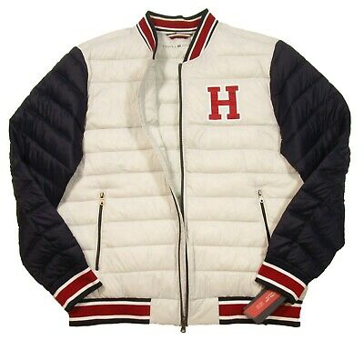 TOMMY HILFIGER QUILTED Colorblocked Down Hooded Puffer Coat
