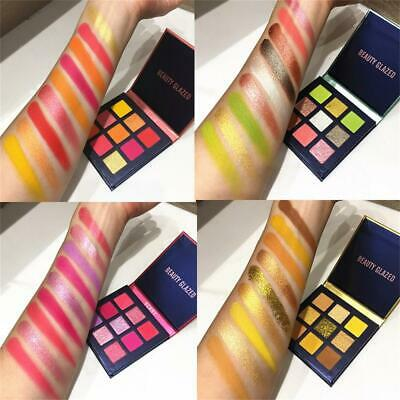 Makeup 9 Colors Shimmer Shining Neon Eyeshadow Matte Mineral  Eyeshadow Palette