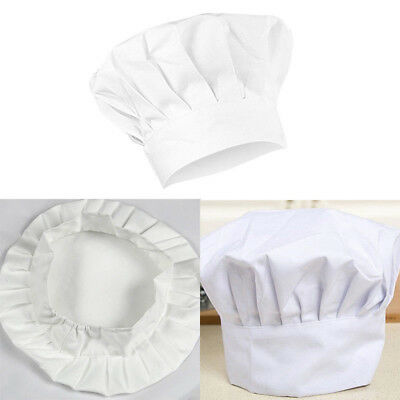 1pc Kids White Chef Hat Elastic For Party Kitchen Baking Cooking  Cap