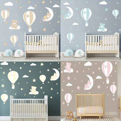 18 x Pack Of Cloud Wall Stickers Decals Children/'s Boys Girls Room GA4-22