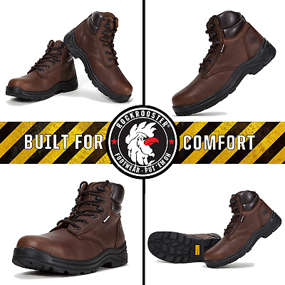 ROCKROOSTER Safety Men's Work Boots Composite Toe Rubber Sole Waterproof Shoes