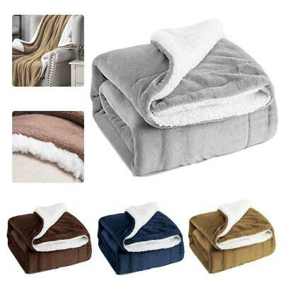 Bedsure Sherpa Blanket Fleece Throw Reversible Warm Blanket for Bed and Couch //