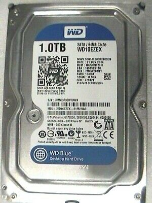 "1Tb Western Digital WD10EZEX  WD Blue internal 3.5"" SATA 6Gb/s 64Mb HDD 7200rpm"