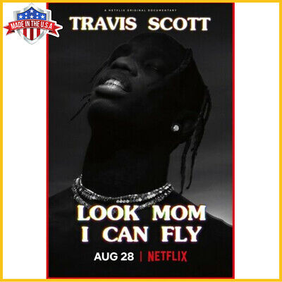 Travis Scott Poster Look Mom I Can Fly Poster Netflix Movie Art Film Print US