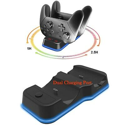 Portable Dual Charging Dock Charger Station for Nintendo Switch Pro Controller