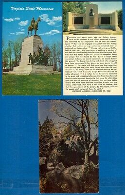 9 Gettysburg National Military Park, Battle Of Gettysburg, Civil War Postcards