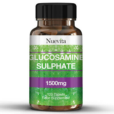 Glucosamine Sulphate 2KCl 1500mg 120 Tablets, High Strength Supplement Vegan