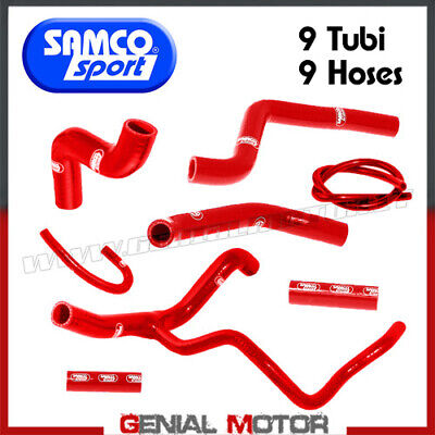 KuehlerrohrKit Samco DUC26RE Rot Ducati Monster 1200 R 2014 > 2018