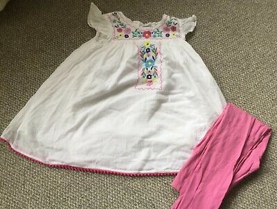 Top And Leggings Set By M&s Age 6-7 Years