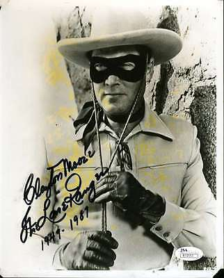 Clayton Moore Jsa Hand Signed 8X10 Photo Authenticated Autograph