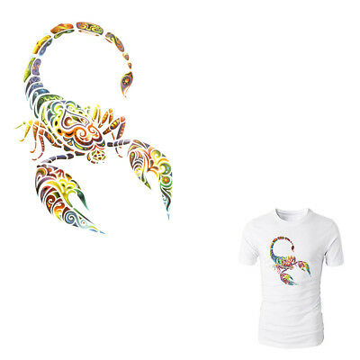 Scorpion Iron On Patches Washable Heat Transfer Stickers Applique for Clothes M!