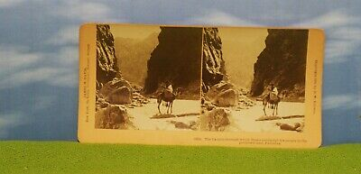 Vintage Stereoview Card - Canyons Moses Promised Land  - Israel / Palestine