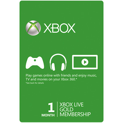 Microsoft 1 Month (30 Days) Xbox Live Gold Membership Play Today!