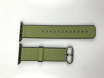 Original Apple Watch Series 5 4 3 2 Woven NYLON Band 38MM 40MM Dark Olive check