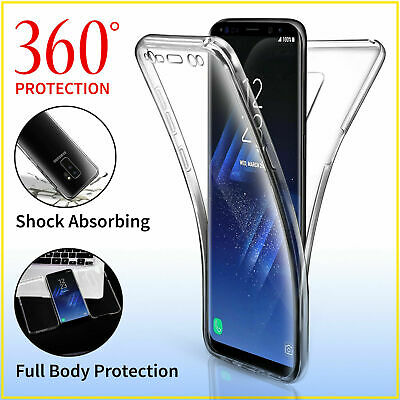 360° Full Body Protection Gel Silicone Case Cover For Samsung Galaxy S10 S9 S8 +