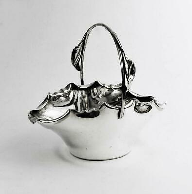 JAMES DIXON SILVER PLATED SUGAR BOWL c1880 LILY PLANT AESTHETIC MOVEMENT