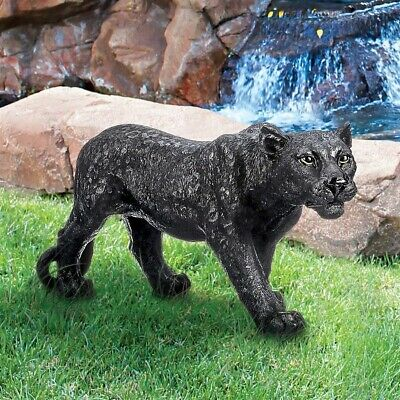 """Realistic Life Like 10""""  Black Panther Statue African wildlife Sculpture NEW"""