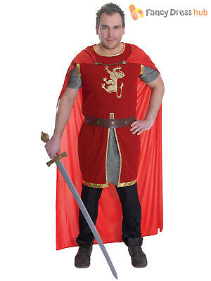 Mens Knight Fancy Dress Costume Richard Lionheart Medieval King Arthur Book Week