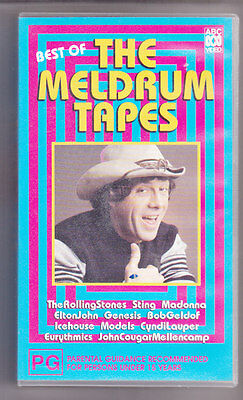 VHS TAPE Best Of  THE MOLLY MELDRUM TAPES Stones/Madonna/Genesis/Icehouse/Sting