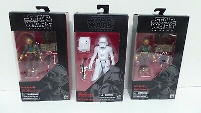 3 Hasbro  Star Wars Force Awakens Figures In Boxes