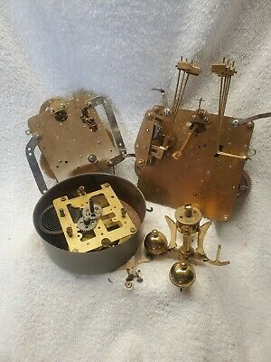 Lot Of Three Clock Movements~La Rose~Franz Hermle~Weight For Resto Or Parts