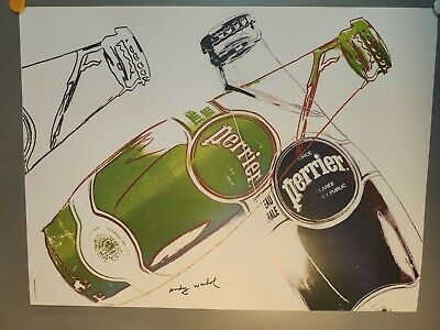 Andy Warhol- Original lithograph- PERRIER 1983.