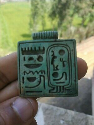 Antique Raer Egyptian wonderful old stone  a pharaonic  amulet Bc