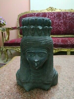 Rare Antique Ancient Egyptian Statue The head of Queen Cleopatra