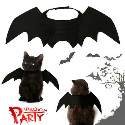 Halloween Black Bat Wings Pet Dog Cat Vampire Costume Fancy Cos Adorable Dress