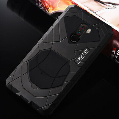 IMATCH Aluminum Metal Silicone Shockproof Case Cover For Xiaomi Pocophone F1