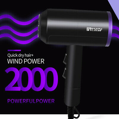 New 2200W Professional Hair Dryer Household Hairdryer Salon Nozzle Travel Beauty