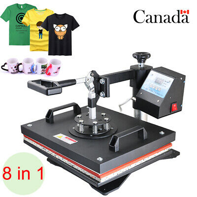 Great! 8 In 1 T-shirt Heat Press Sublimation Transfer Machine For Mug Plate Hat