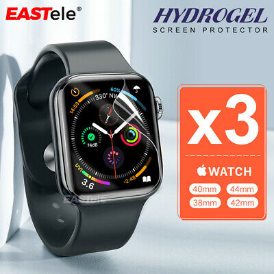 3x Apple Watch 5 4 44&40mm Series 5 4 10D HYDROGEL Full Cover Screen Protector