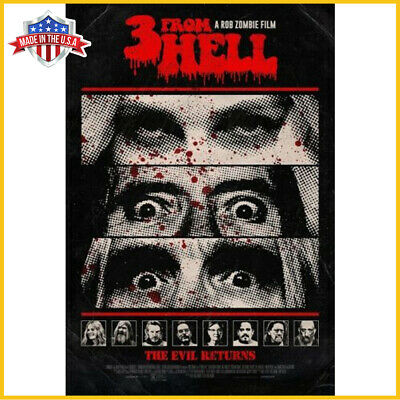 3 From Hell Poster Horror Movie Art Print Sequel To The Devil's Rejects Poster