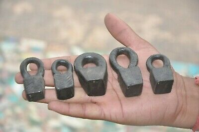 5 Pc Old Iron Unique Solid Tribal Handcrafted Tobacco Measuring Weights