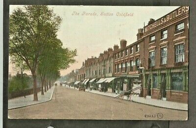 RFY 1907 Postcard, The Parade, Sutton Coldfield shows Museum Inn