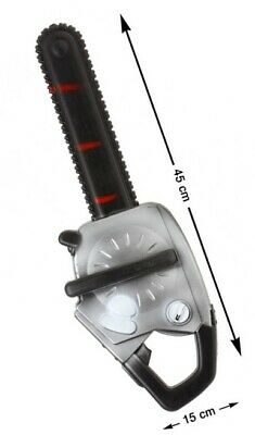 Mens Ladies Bloody Chainsaw Halloween Fancy Dress Costume Outfit Weapon Prop