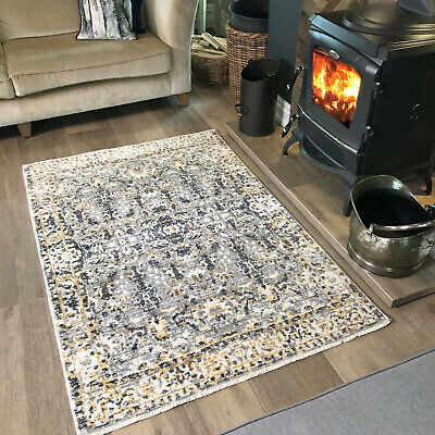 Ochre Mustard Small Large Big Traditional Grey Size Floor Carpets Rugs Mat Cheap