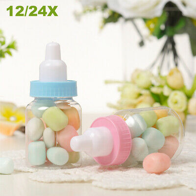 1X-24X Lovely Fillable Bottles Candy Box Baby Shower Baptism Favour Party Decor