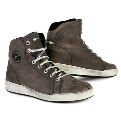 Shoes Boots Man Stylmartin Marshall Wp Leather Brown Tobacco
