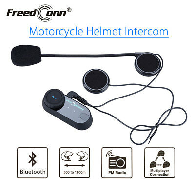 Motorcycle USB Bluetooth Helmet Intercom Headset Handfree Headphone w/Microphone