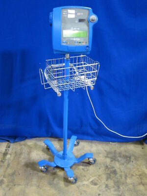 GE Dinamap Pro 100 Blood Pressure Patient Monitor on Rolling Stand