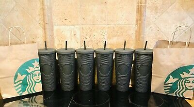 (1) STARBUCKS Black Matte Studded Tumbler Limited Edition Halloween Fall 2019