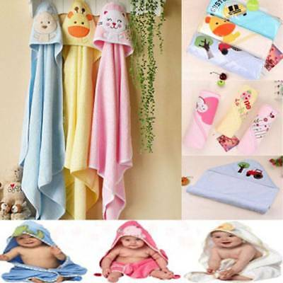 Cotton Cartoon Baby Hold Blanket Soft Baby Soft Towel Bath Towel with Cap UK