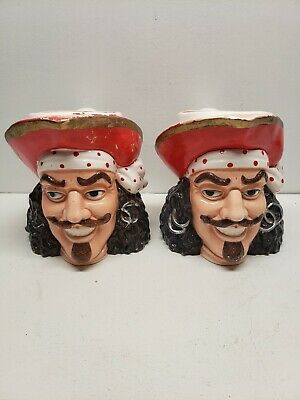 Rare Vintage Captain Morgan Spiced Rum Ceramic Pitchers