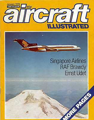 Aircraft Illustrated Magazine 1978 January RAF Brawdy,Singapore Airlines