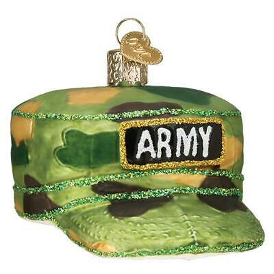 """Army Cap"" (32376)X Patriotic Old World Christmas Glass Ornament w/Owc Bx"